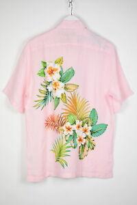 RRP $125 GANT TROPICAL SURF Men LARGE Linen Flower Prints Regular Shirts 14274