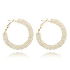 Fashion Women Elegant Hook Earrings Crystal Ear Stud Dangle Hoops Jewelry Gift