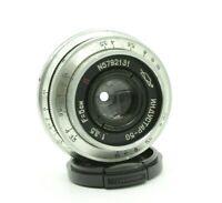 Vintage SLR Silver KMZ Industar 50 3,5 50mm Silver lens M39 Portrait L39 SPT86