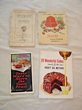 4 Recipe pamphlets: 1910 Chocolate & Cocoa   9188