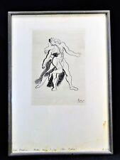 RARE PABLO PICASSO ETCHING BALLET SERGE LIFAR Ca. 1945   (1/2)  GRAVURE - #250