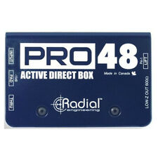 Radial Pro48 Active Direct Box Compact Design Pro 48V Phantom Power New