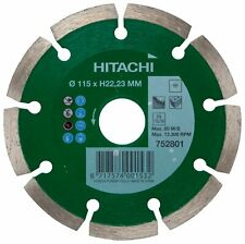 Hitachi Diamond Blade Cutting Disc 115mm Masonry Brick Tile Concrete Stone 4.5""