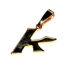 Pendentif en plaqué or 18 carats Lettre initiale K bijou pendant