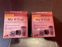 LOT 2-Keurig MY K-CUP UNIVERSAL REUSABLE COFFEE FILTER ALL KEURIG HOME BREWERS