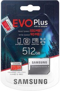 Samsung 512GB Evo Plus Speicherkarte Mikro SDXC UHS-I Klasse 10 mit Adapter -uk