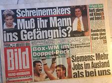 Bildzeitung vom 13.12.1996 * 20. 21. 22. Geburtstag Geschenk * Schreinemaker