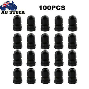 100X PG7 Waterproof Cable Gland Connector Clamp Adjustable 3-6.5mm IP68 AU
