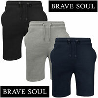 BRAVE SOUL MENS JOGGERS SHORTS FLEECE JERSEY SWEAT SUMMER BAGGY GYM RUNNING PANT