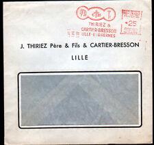 """LILLE (59) USINE de FILS à COUDRE / Coton Lin """"THIRIEZ & CARTIER-BRESSON"""" en1961"""