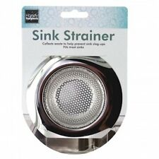 "1pc Universal Stainless Steel Kitchen Sink Strainer Large Wide Rim 4.5"" Diameter"