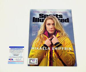 Mikaela Shiffrin 2018 Olympics Signed Sports Illustrated Magazine PSA/DNA COA B