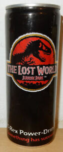 JURASSIC PARK The Lost World ENERY DRINK can from GERMANY (25cl)  Empty !!