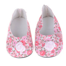 "Doll Pink Floral Shoes for 18"" American Girl Our Generation Doll Party*Accessory"