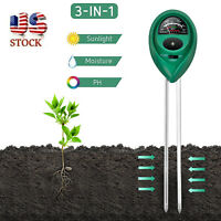 3-in-1 Soil Tester Meter Kit for Garden Lawn Plant Moisture/Light/pH Sensor Tool
