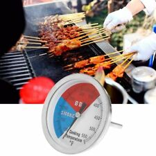 """3"""" 550F BBQ Thermometer Gauge Barbecue Grill Wood Smoker Charcoal Heat Indicator"""