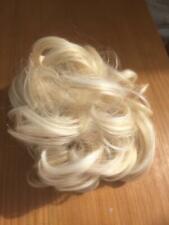 Crazy Hair White Blonde Clip in Hair Piece