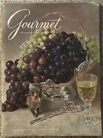 Vintage Gourmet Magazine Oct 1959 Grapes Old New York Restaurants Chef Cover Art