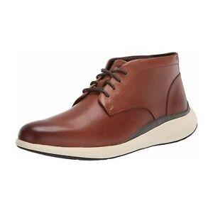 Cole Haan Men Plain Toe Chukka Boots Grand Troy Chukka British Tan Ivory Leather