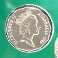 1985 50 cent specimen coin from mint set 50 cents UNC