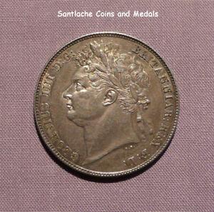 1820 KING GEORGE IV HALFCROWN - 1st REV. - HIGH GRADE COIN