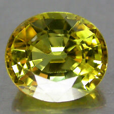 1.40Cts. Impressive! 100%Natural Yellow Color Sapphire Ov Luster Africa