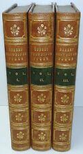 Poems By ROBERT BROWNING 1850 Men And Women 1856 FINE BINDINGS 3 Vols POETRY