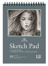 100 Sheets 9 x 12 Sketchpad Smooth Texture For Pencils Pens Markers Sketchig