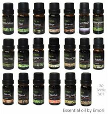 20 Bottle of 100% Pure Essential Oil Combo Set 10 ml Therapeutic Grade