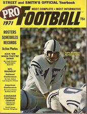 1971 Street & Smith's Football magazine Earl Morrall, Baltimore Colts VG