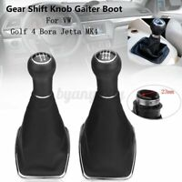 5/6 Speed Gear Shift Knob Gaitor Boot Leather 23mm For Golf 4 Bora Jetta MK4