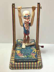 Vintage Mattel Musical Clown Man on the Flying Trapeze Music Maker Muscial Toy