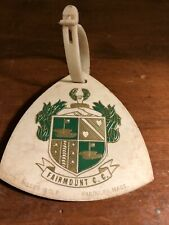New listing Vintage Fairmount Country Club in Chatham NJ Golf Bag Tag 1960's