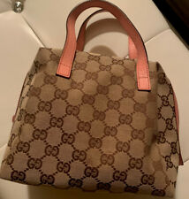 Authentic Gucci Cosmetic Bag - Brown & Pink Gg. Slightly Used!