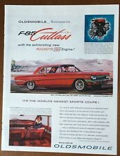 1962 Oldsmobile F-85 Cutlass Automobile Vintage Red Car Illustrated Print Ad