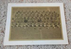 Vintage 1969 AFL Buffalo Bills Team Photo Greeting Card Shaw Barton OJ Simpson