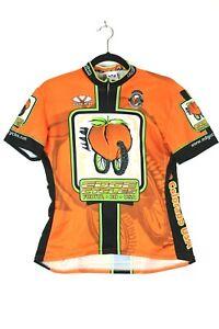 Voler Womens Large Orange Edge Cycles Fruita Bicycle Cycling Jersey Pockets