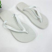 Havaianas Unisex Size 11/12 Womans 9/10 Men Top Sandal in White NEW