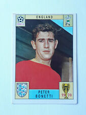 Panini World Cup 'Mexico 70' Red & Black Back - Peter Bonetti England Card