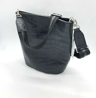 Steven Alan Handbag Purse Shoulder bag  Medium Croc Embossed Leather Hobo B