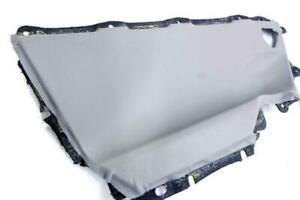 For 07-11 Toyota Camry Rear Door Panel Insert Card Set 2pcs Vinyl Gray