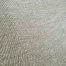 Linwood Tiree Green Herringbone Upholstery Chenille Weave Fabric 2 Metres