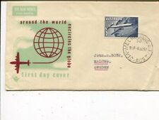 Australia air mail Fdc cover to Sweden 6.1.1958