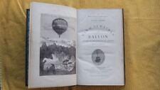 JULES VERNE : CINQ SEMAINES EN BALLON - HETZEL - S.D. ( 1880 ) - ILL. RIOU