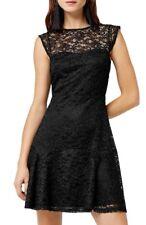 Vestido de encaje almacén de novia talla 10 Negro Nuevo