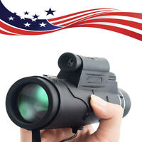 US 1800M/9900M Flashlight+Red  Laser Monocular Telescope +Compass For Hunting