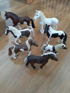 Schleich horses bundle, 7 horses, very good condition