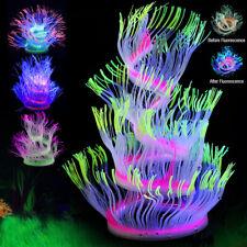 Large Aquarium Tank Silicone Sea Anemone Artificial Coral Plant Ornament Decor