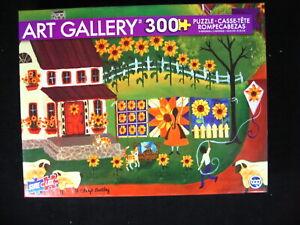 Autumn Quilt Farm Animal 300 Pc Jigsaw Puzzle Art Gallery 19 x 13 NEW