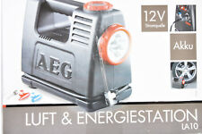 AEG 97180 LA 10 Luft & Energiestation, Akku, 12 V Stromquelle, Kompressor, Lampe